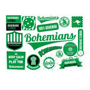 samolepky - mix FbŠ Bohemians